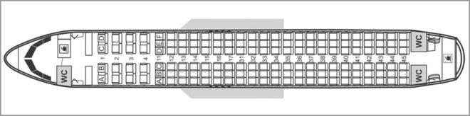 Схема салона Аэробус А320нео