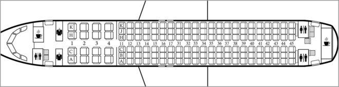 Схема салона Аэробус А320