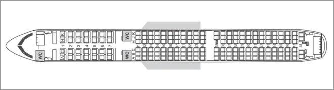 Схема салона Аэробус А321нео