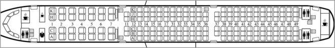 Схема салона Аэробус А321