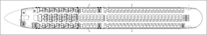 Схема салона Боинг 767-300ЕР
