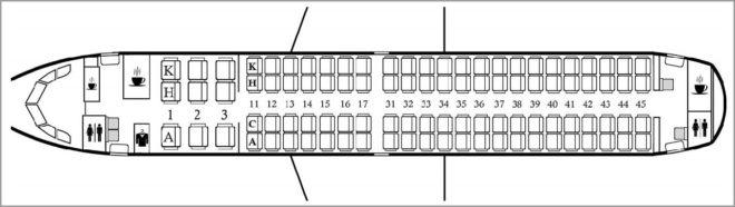 Схема салона Эмбраер 190