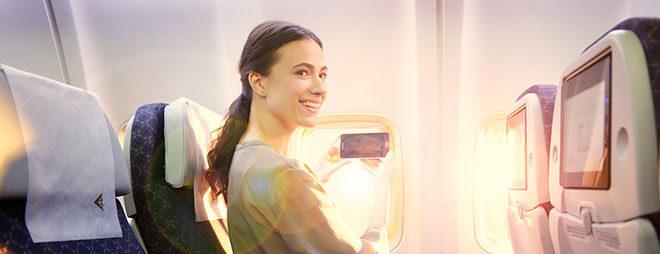 Девушка, которая летит по молодежному тарифу
