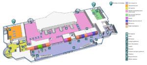 Схема 1 этажа терминала