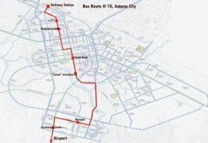 Схема маршрута №10