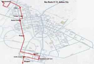Схема маршрута №12