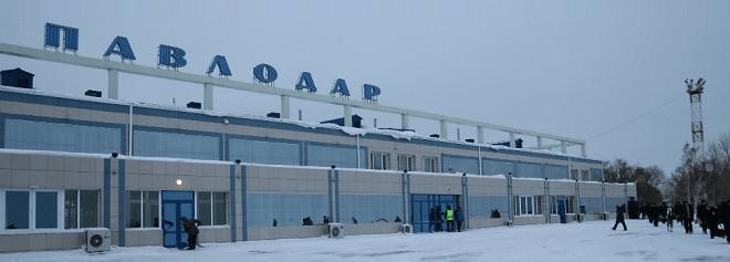 Зимнее фото аэропорта Павлодар