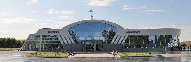 Вид на аэропорт Талдыкорган